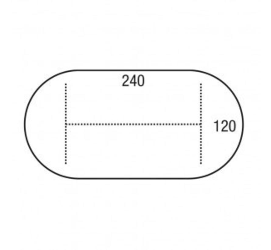 Pinta Ovale Vergadertafel 240 x 120 | Verschillende Kleurstellingen