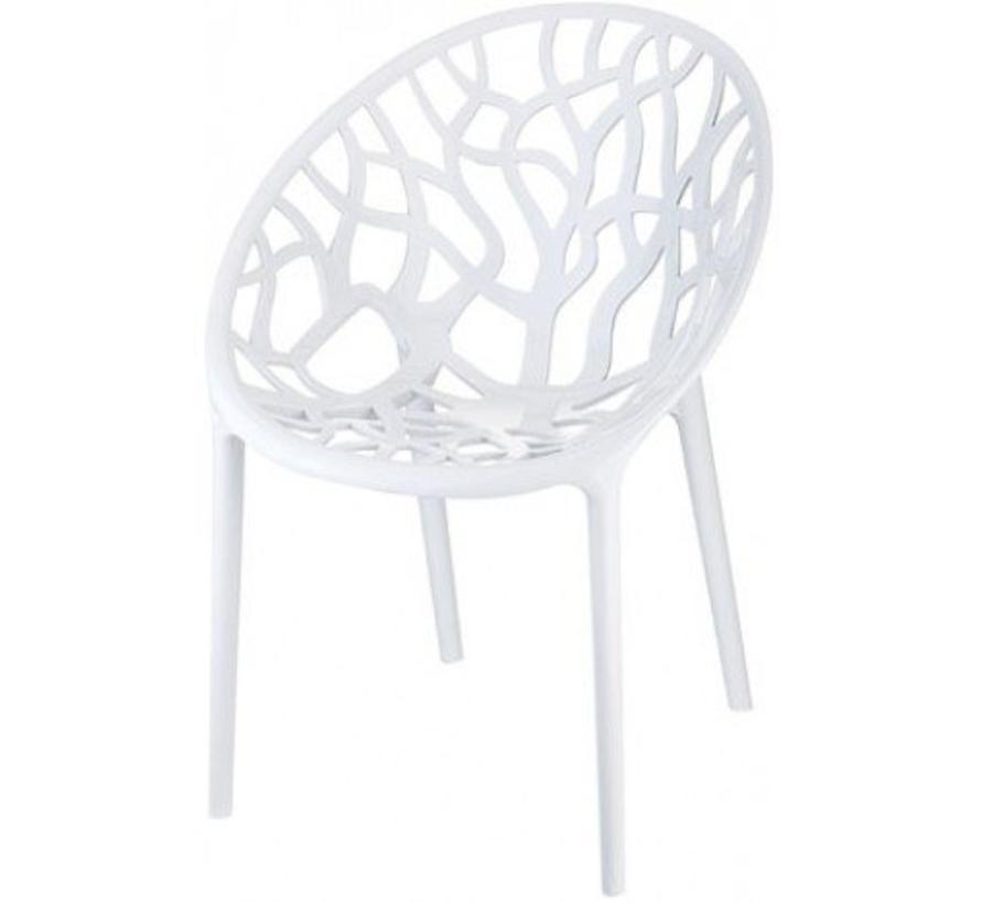 Astrid Design Stoel Wit | 4-Poot