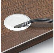 Lamers Kantoormeubelen Kabeldoorvoerdop |  Zwart/Aluminium