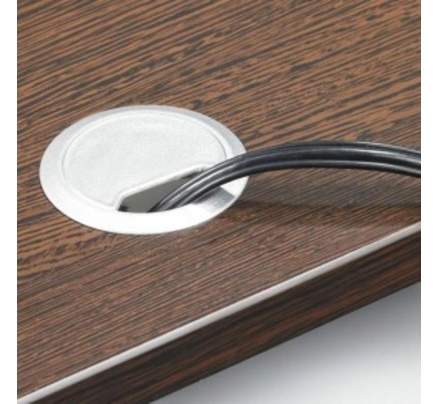 Kabeldoorvoerdop |  Zwart/Aluminium