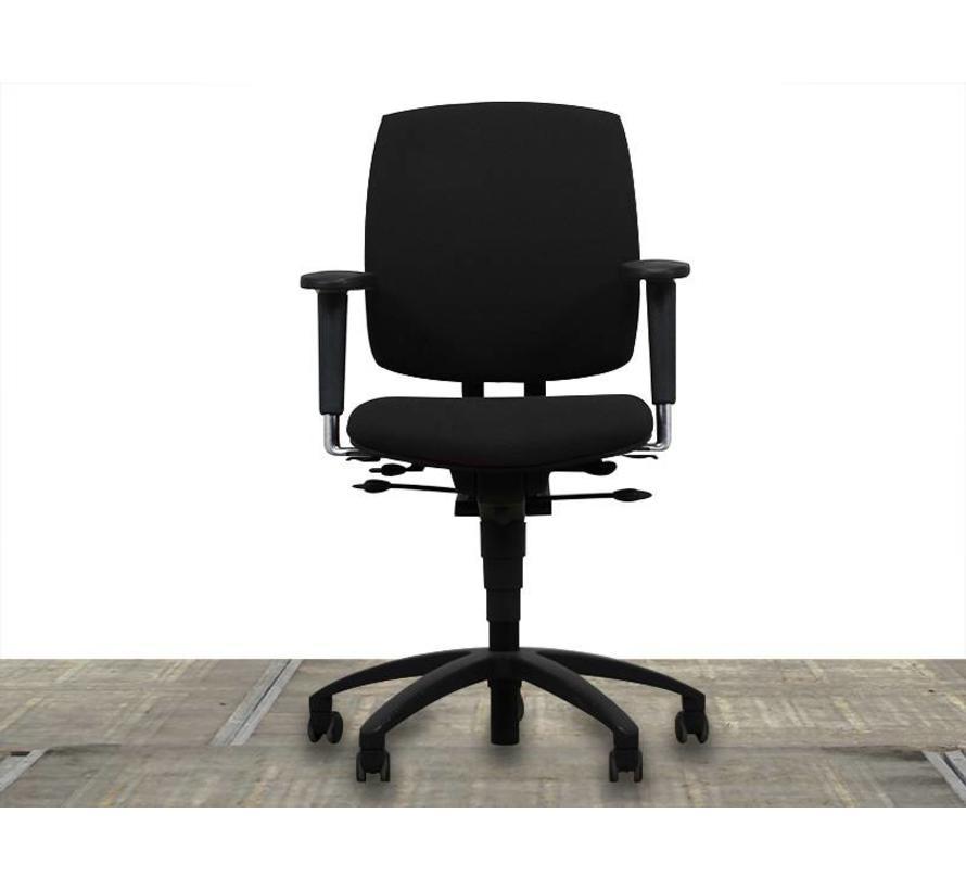 Drabert Entrada Bureaustoel Zwart | Zwart Voetkruis