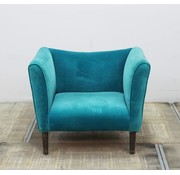 Lamers Kantoormeubelen Fauteuil Turquoise Stof