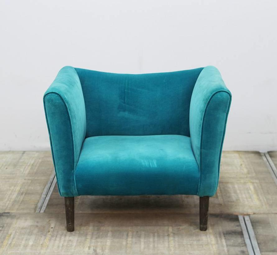 Fauteuil Turquoise Stof