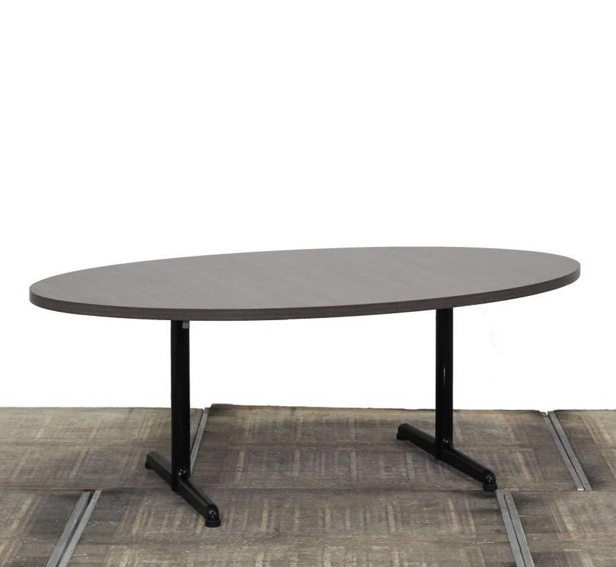 Ovale Vergadertafel 200 x 120 cm    Donker Eiken Blad