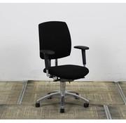 Drabert Drabert Entrada Bureaustoel Zwart | Chroom Voetkruis