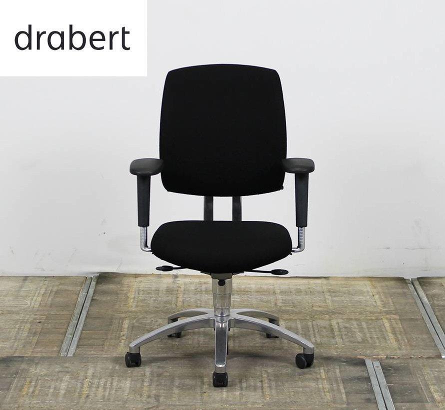 Drabert Entrada Bureaustoel Zwart | Chroom Voetkruis