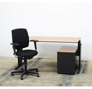 Aspa TOPDEAL! Bureau + Bureaustoel + Ladeblok