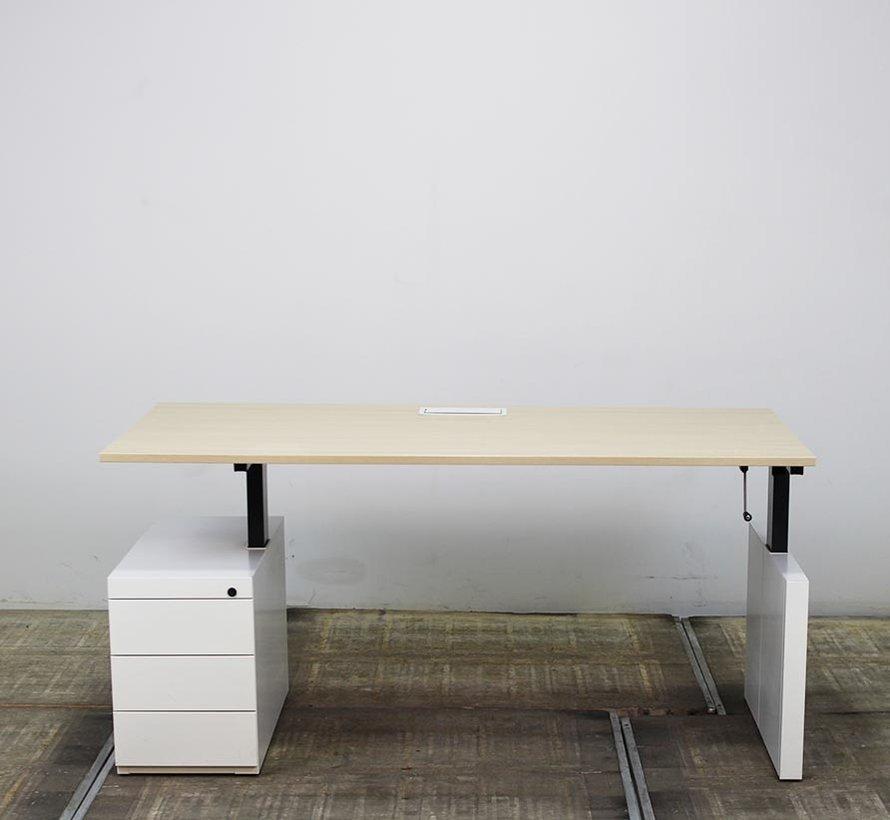 Voortman Hi Tee Slingerbureau + Ladeblok   180 x 90 cm