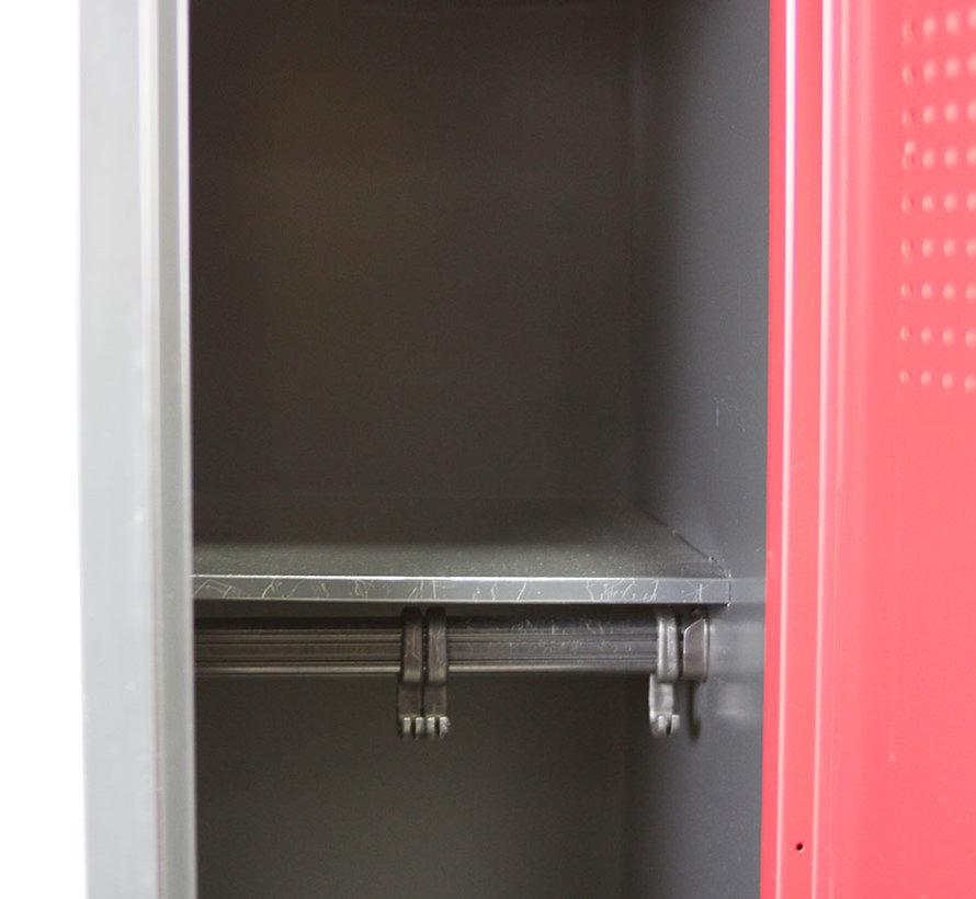 Scheeres Lockerkast 2 Deuren | Rood & Zwart