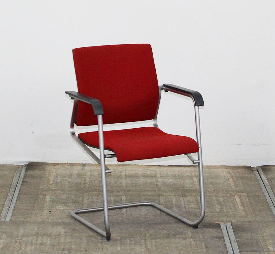 Vergaderstoel Wilkhahn Sito | Rood - Aluminium