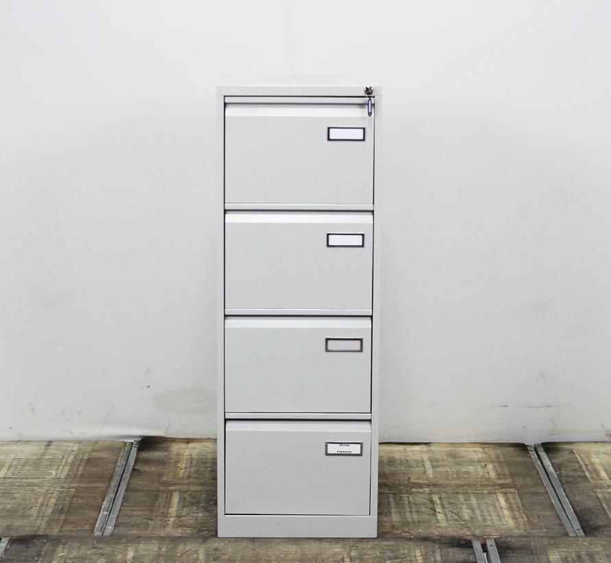 Ekwo Dossierkast Grijs | 132 x 47 x 62 cm - 4 Laden