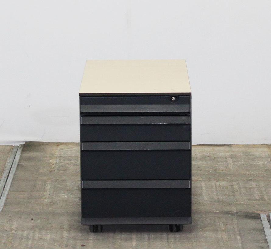 Ahrend Ladeblok Antraciet | 57 x 42,5 x 76,5 cm - 4 Laden