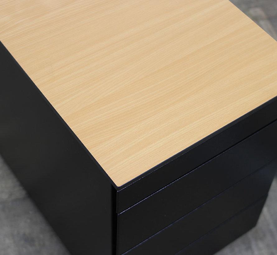 Amerland Ladeblok Zwart | 62,5 x 43 x 78 cm - 4 Lades