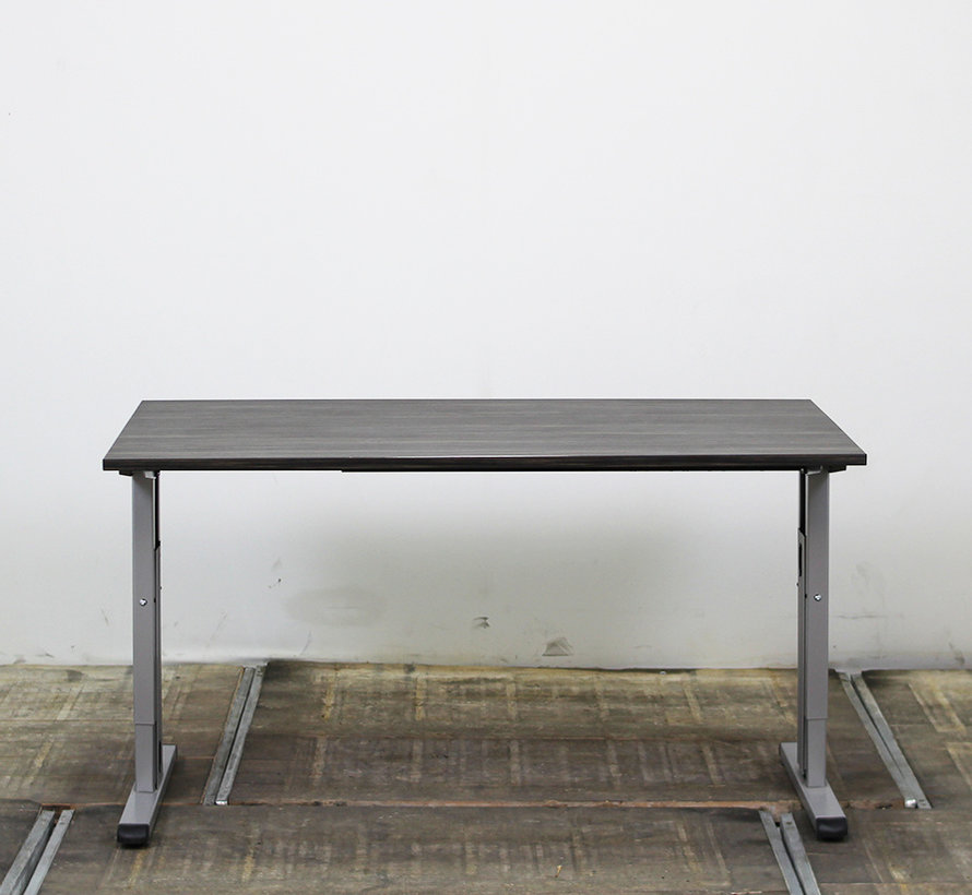 Inbus Verstelbaar Bureau 140 x 80 cm - Hacienda Zwart
