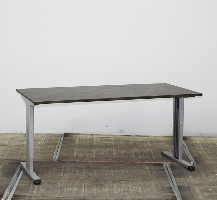 Inbus Verstelbaar Bureau 160 x 80 cm - Hacienda Zwart