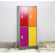 Lamers Lockerkast 4 Deuren - Diverse Kleurstellingen