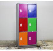 Lamers Lockerkast 6 Deuren - Diverse Kleurstellingen