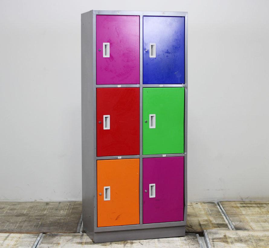 Lockerkast 6 Deuren - Diverse Kleurstellingen