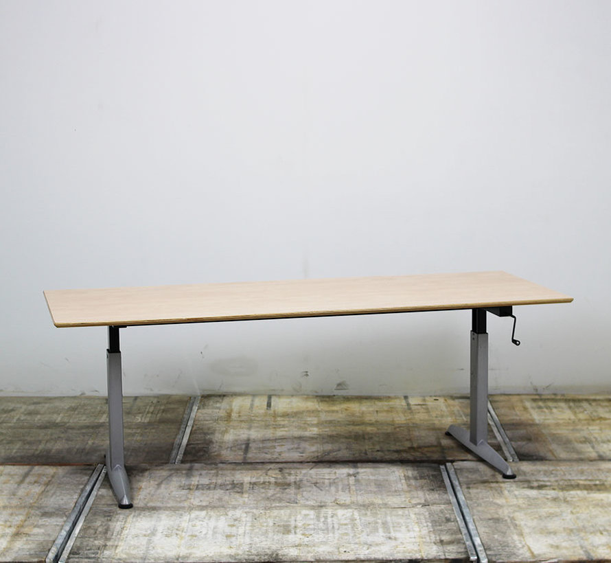 Zwartwoud Zettoe HV Slingerbureau | 200 x 100 cm
