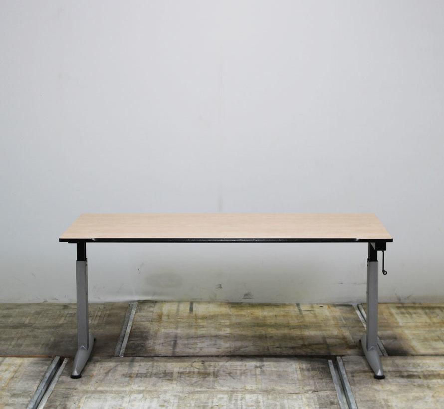 Zwartwoud Zettoe HV Slingerbureau | 160 x 80 cm