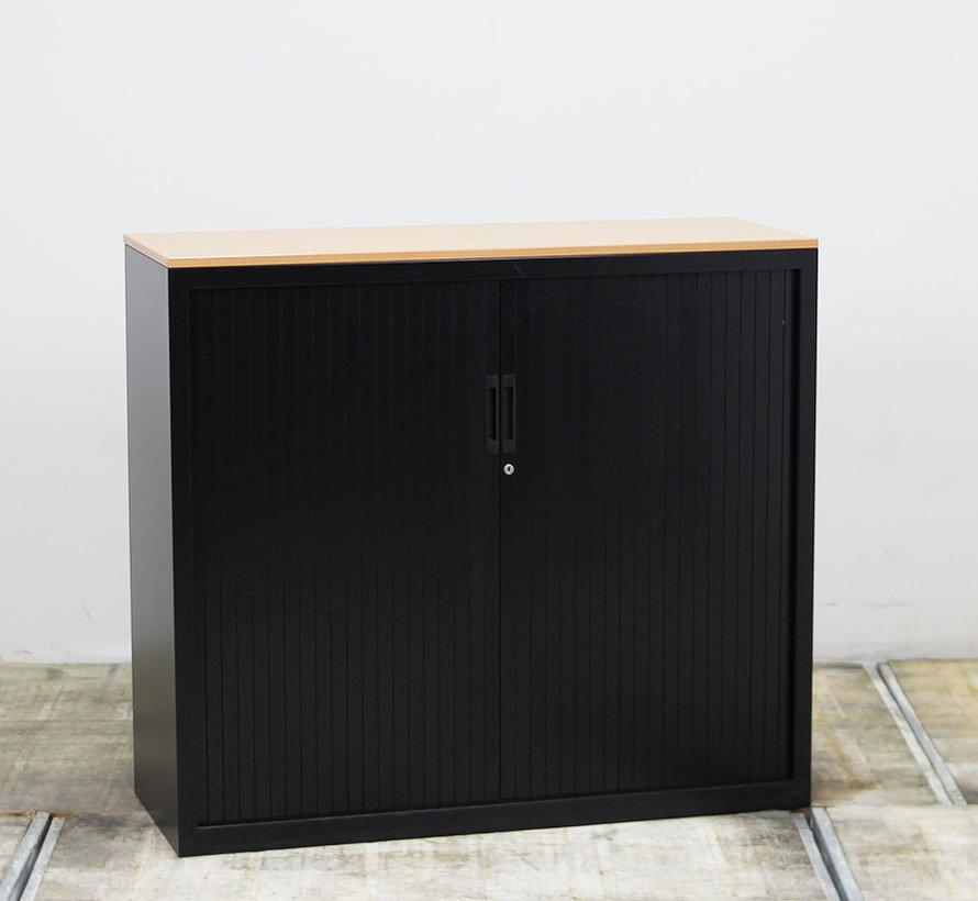 Lensvelt Roldeurkast Zwart | 107 x 120 x 45 cm
