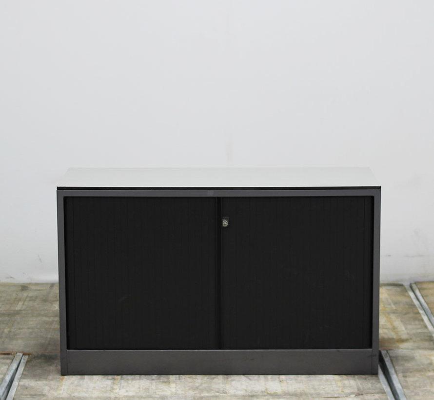 Ahrend Roldeurkast   72 x 120 x 45 cm - Grijs & Zwart