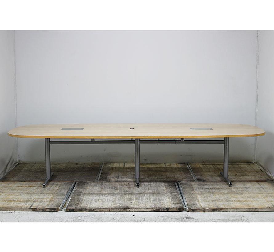 Grote Vergadertafel 350 x 130 cm - Ahorn Blad