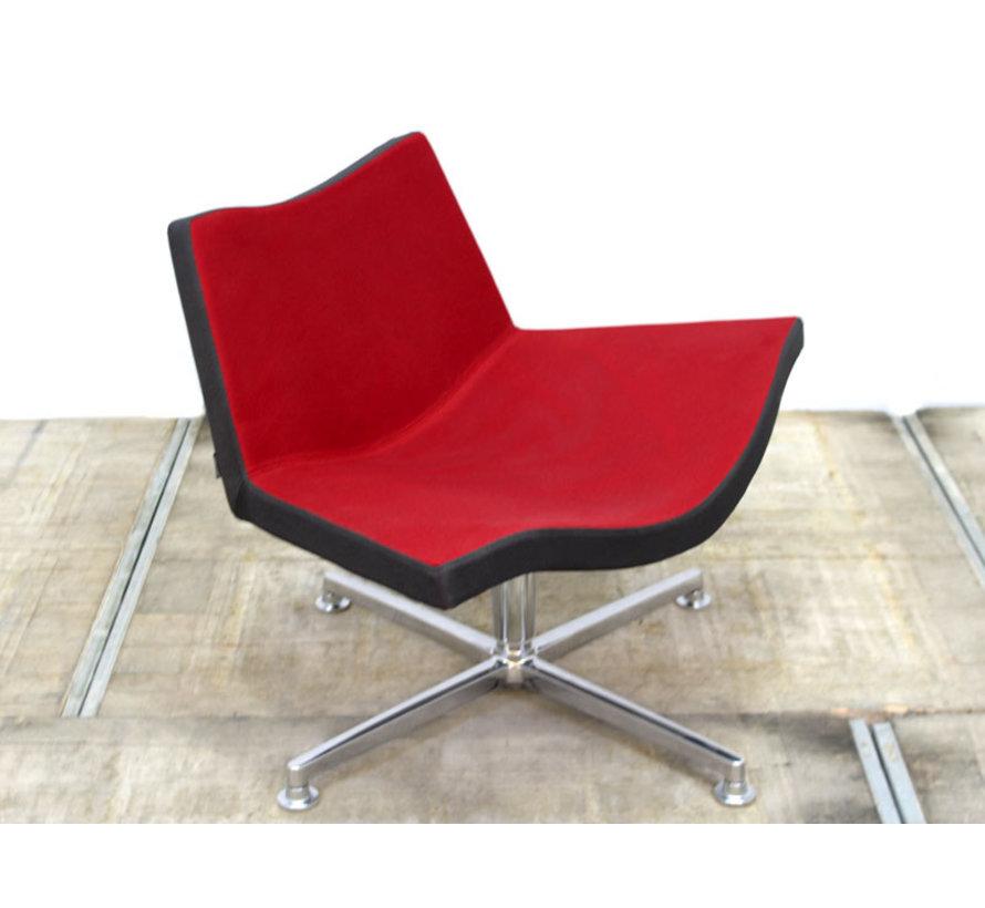 DeBerenn Hero Loungestoel | Rood & Antraciet