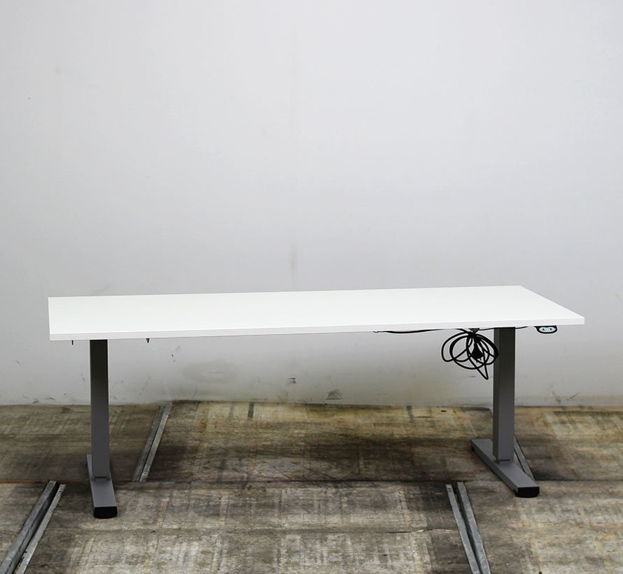Elektrisch Zit-Sta Bureau Nieuw Wit Blad | 180 x 80 cm