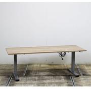 Lamers Elektrisch Zit-Sta Bureau Nieuw Midden Eiken Blad | 180 x 80 cm