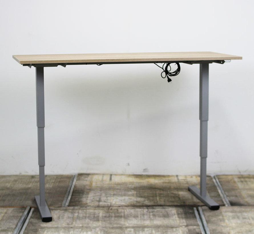 Elektrisch Zit-Sta Bureau Nieuw Midden Eiken Blad | 180 x 80 cm