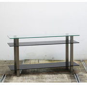 Lamers Kantoormeubelen Tweedehands Glazen Dressoir | 77 x 140 x 40 cm
