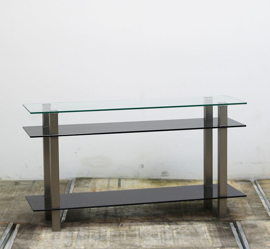 Glazen Glazen Design Dressoir Zwart | 77 x 140 x 40 cmZwart | 77 x 140 x 40 cm