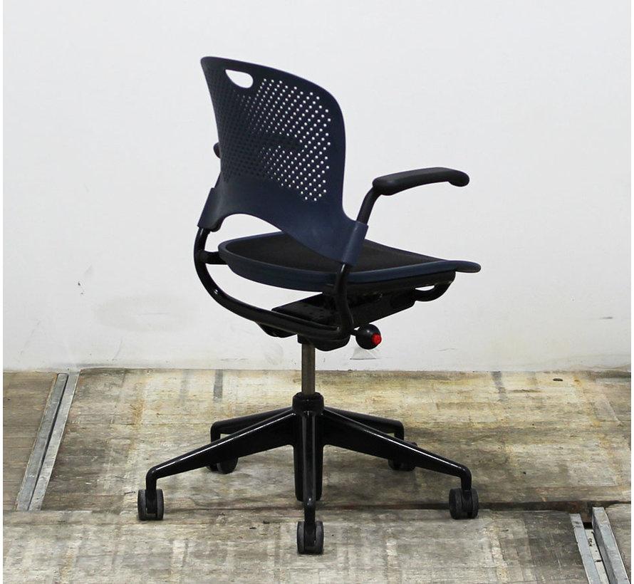 Herman Miller Caper Bureaustoel | Blauw & Zwart