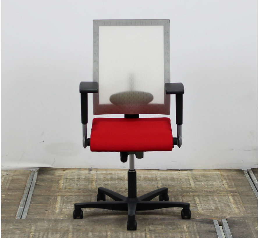 Ahrend 250 Bureaustoel | Transparant - Rood