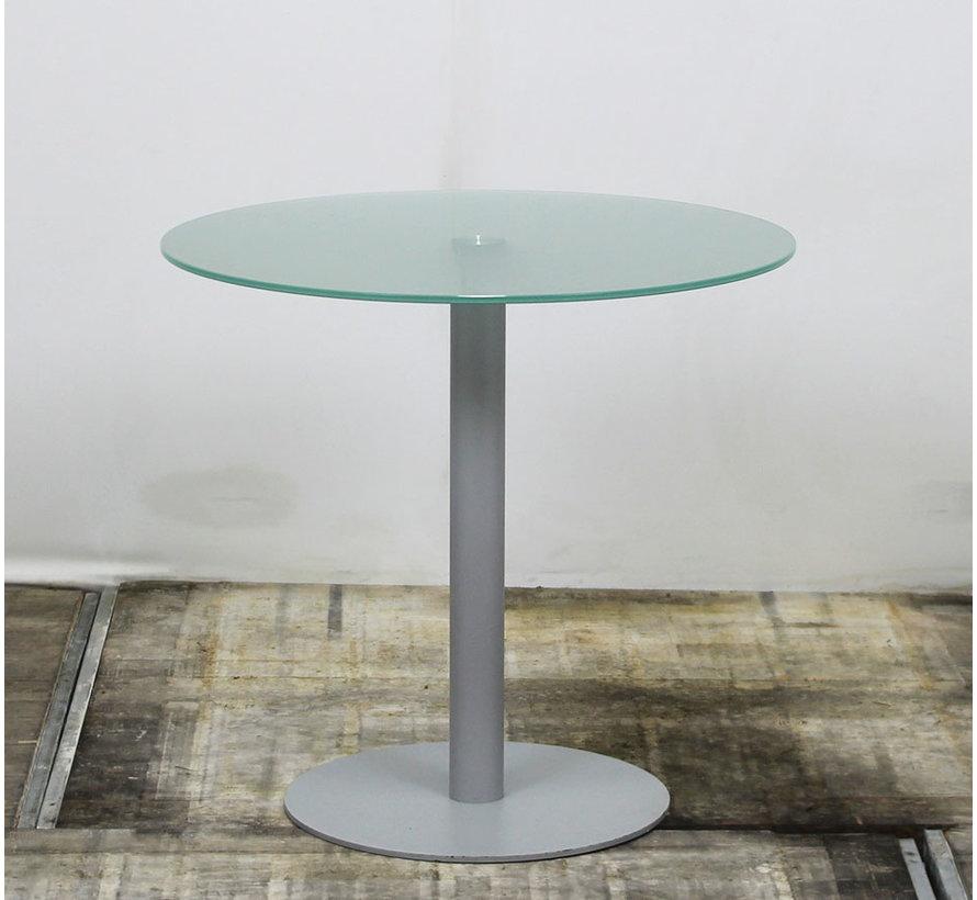 Ronde Glazen Bijzettafel 80 x 73 cm