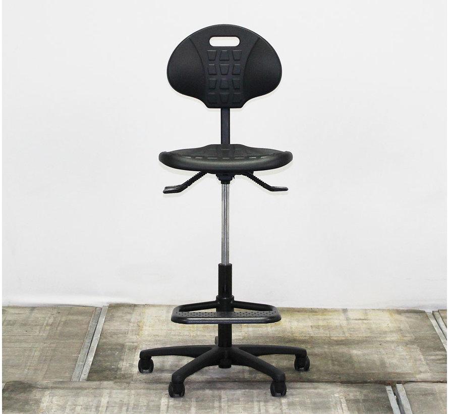 Werkstoel Hoog Zwart
