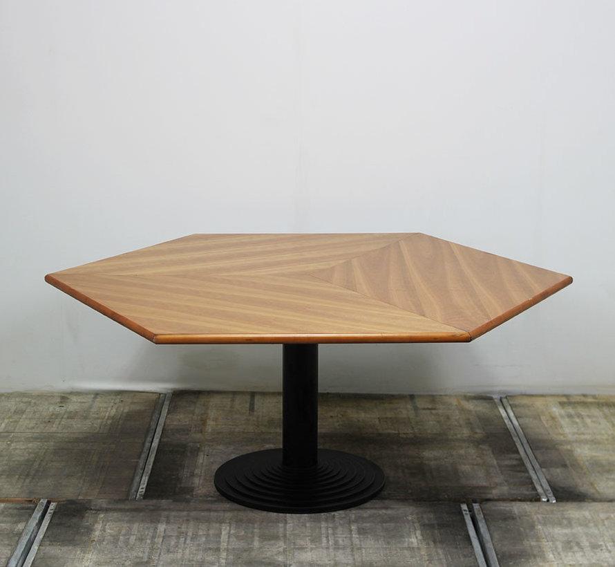 Zeshoekige Vergadertafel 155x155 cm