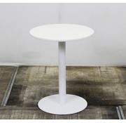 Lamers Ronde Witte Bijzettafel 60 x 74 cm