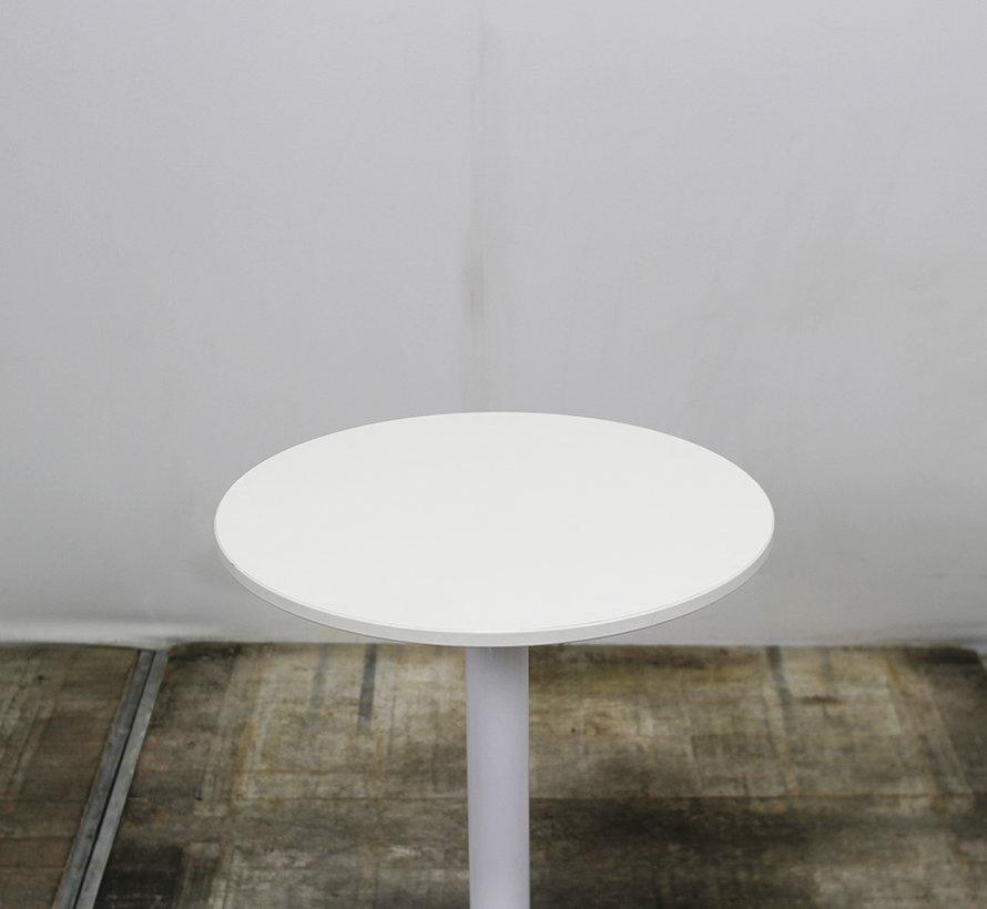 Ronde Witte Bijzettafel 60 x 74 cm