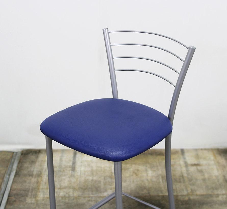 Barkruk Blauw - Grijs | Voetsteun & Rugsteun