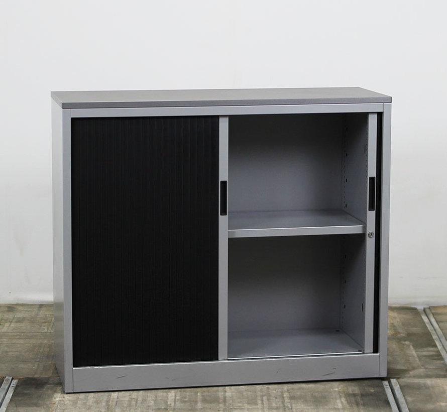 Roldeurkast Zwart / Grijs | 105 x 120 x 45.5 cm