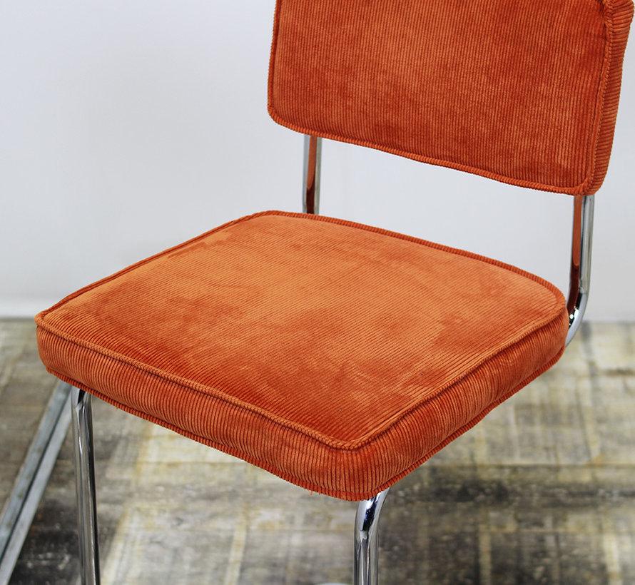 Barstoel Rib Oranje - Slede Frame