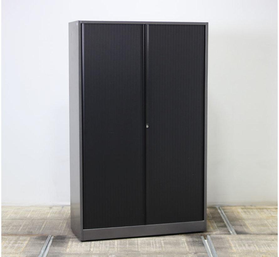 Ahrend Roldeurkast Antraciet / Zwart | 195 x 120 x 45 cm