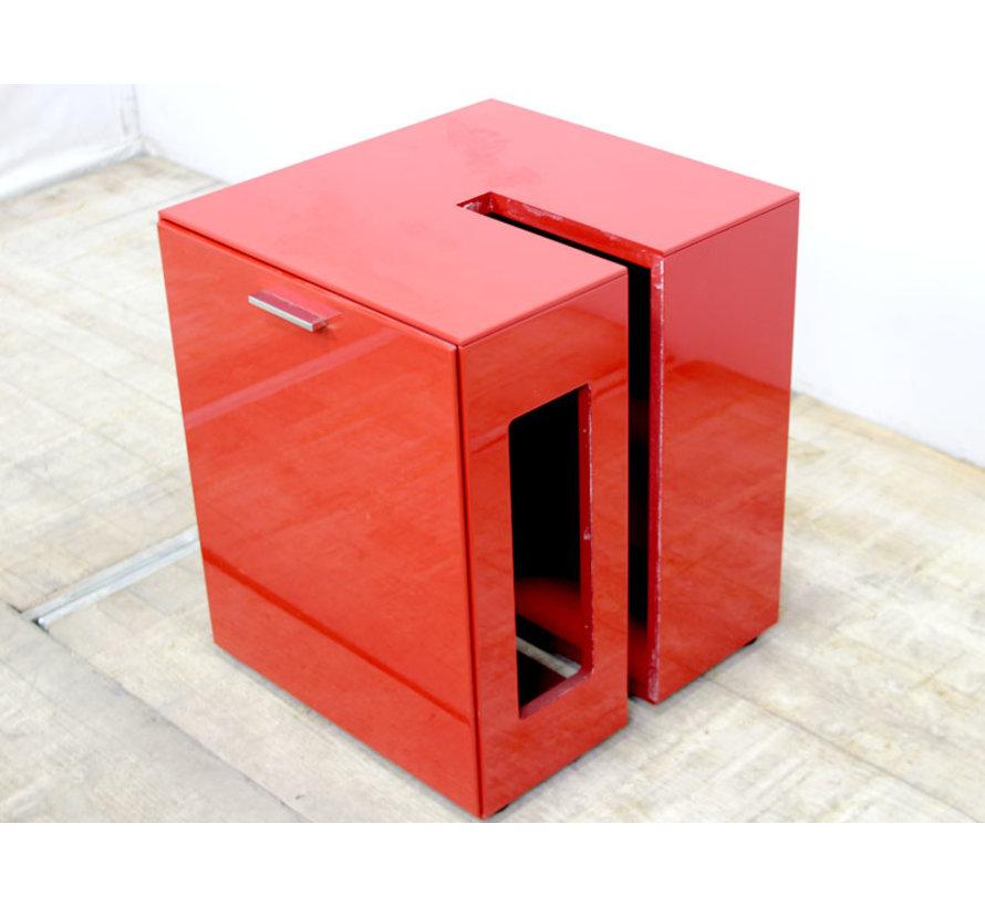 Montis Intu Kastje Rood | 60 x 53 x 50 cm