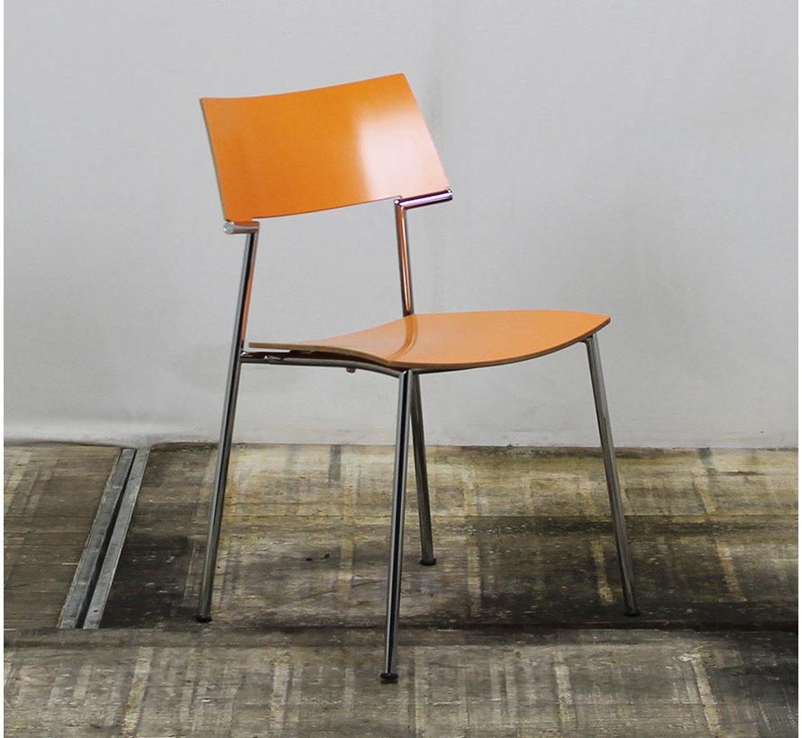 VDS Kantinestoel Oranje - Stapelbaar
