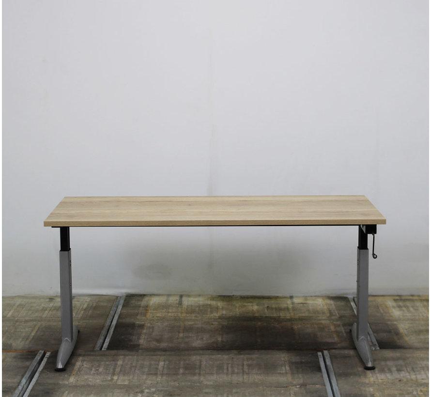 Zwartwoud Zettoe HV Slingerbureau | 160 x 80 cm - Natuur Eiken