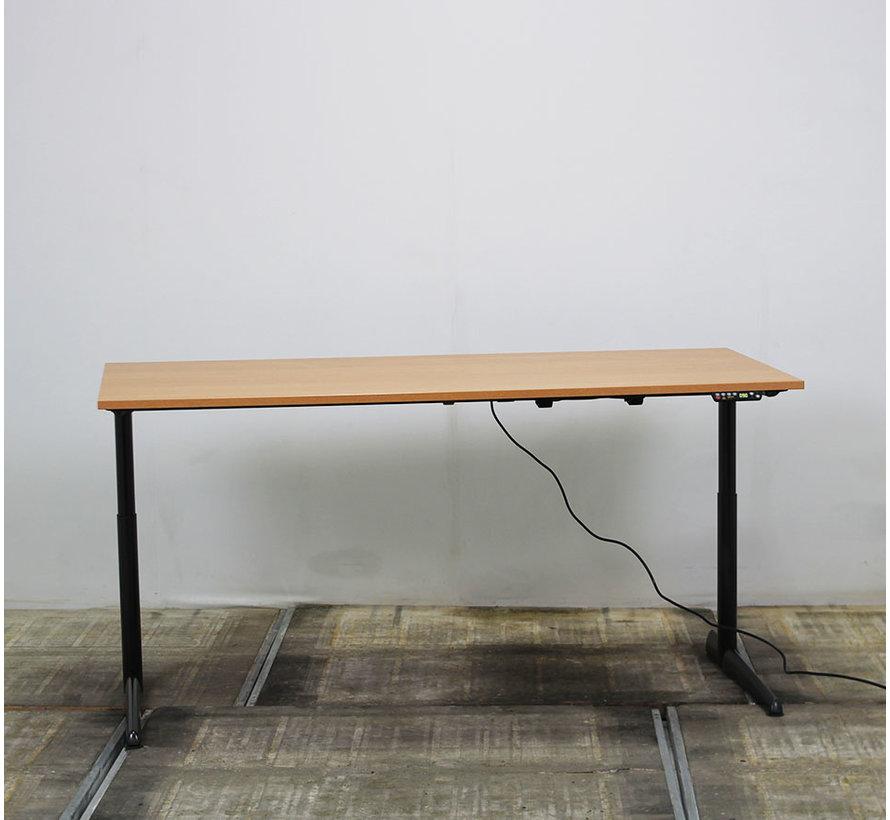 Ahrend 500 Elektrisch Bureau | 180 x 80 cm - Donker Beuken
