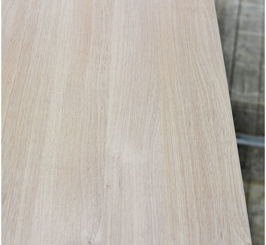 Knop Verstelbaar Bureau Eiken   180 x 90 cm