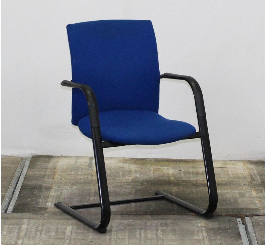 Comforto D5028 Vergaderstoel Blauw - Zwart Slede Frame